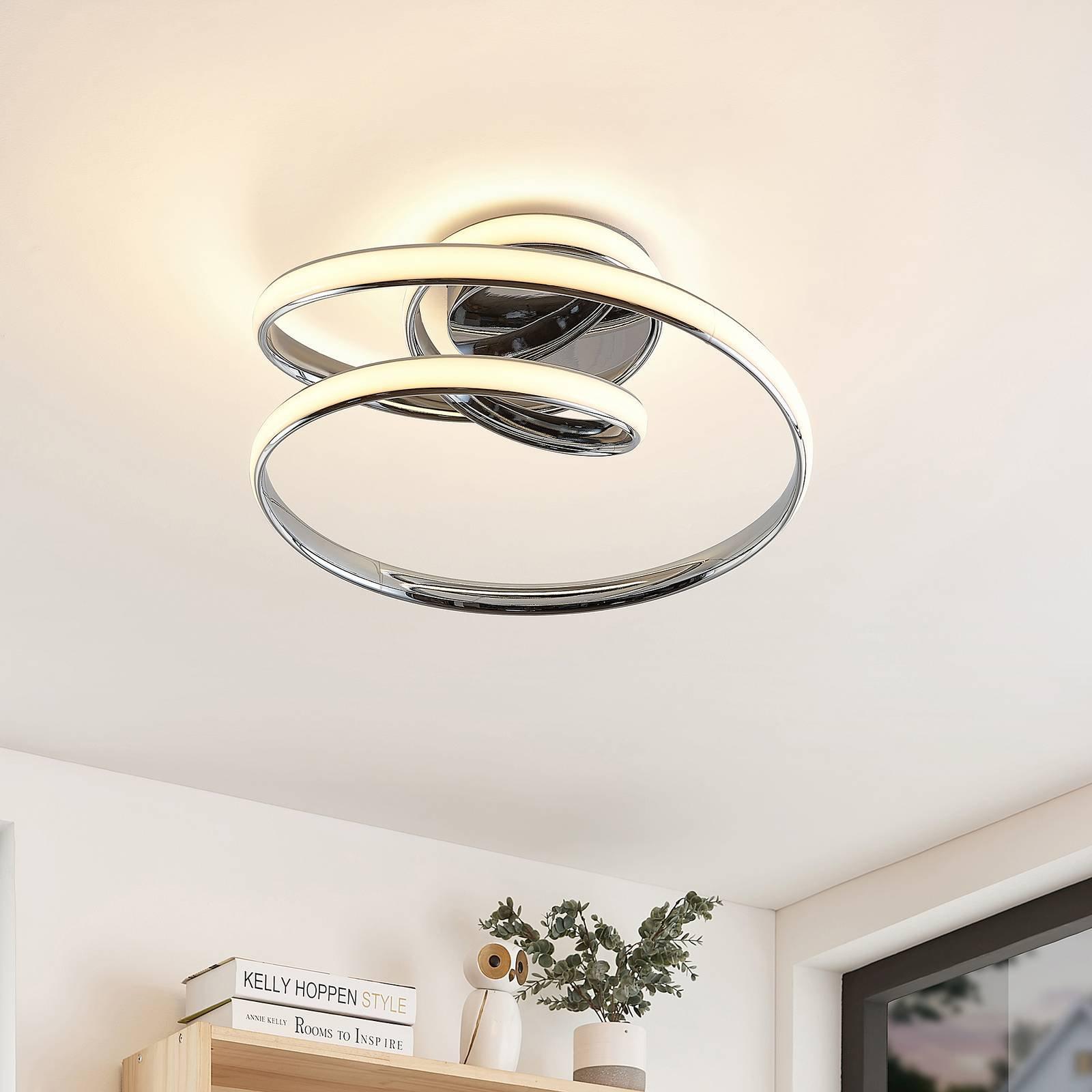 Lucande Sakina LED-taklampe, krom