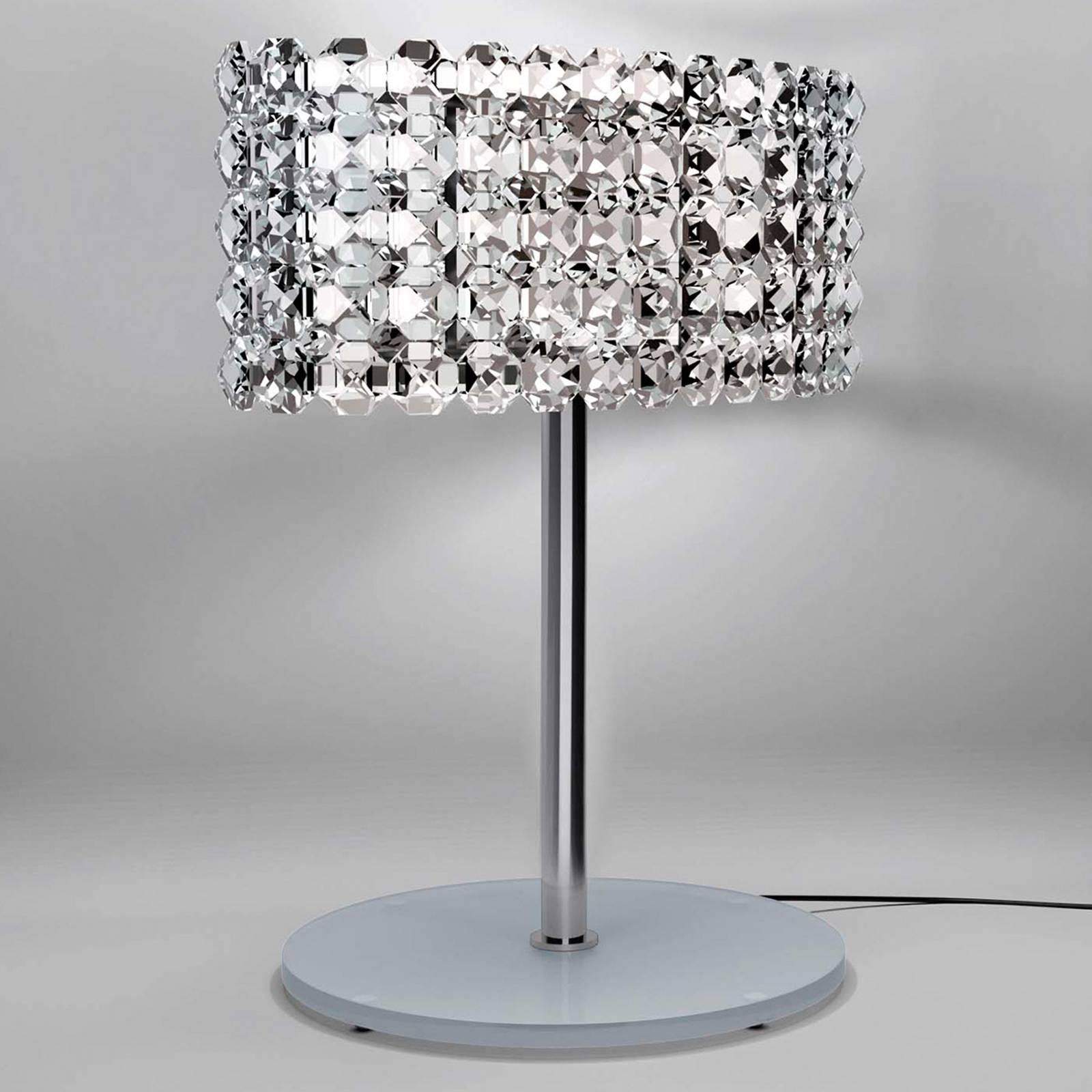 Tyylikäs kristallipöytälamppu BACCARAT läpinäkyvä