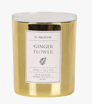 M & Sense Flower tuoksukynttilä kulta