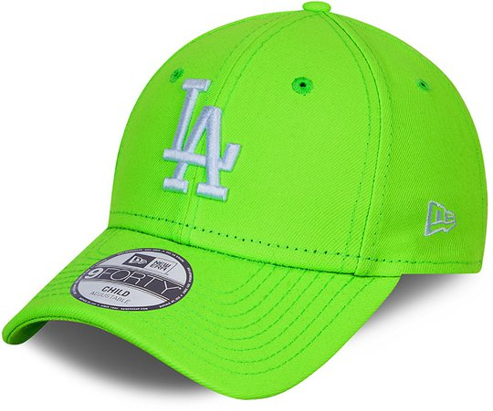New Era LA Dodgers Neon Pack 9Forty Caps, Green Shock White, 4-6 Jahre