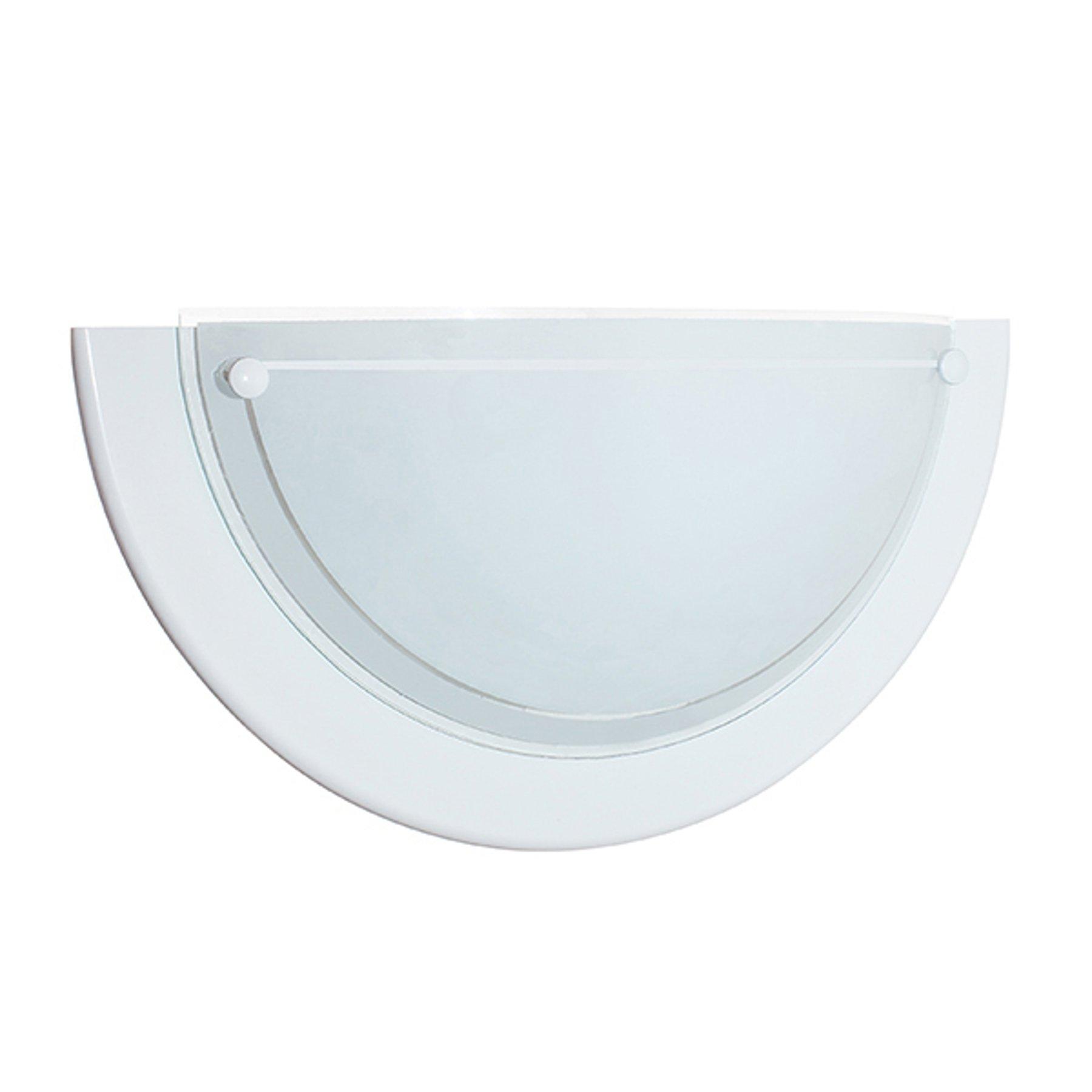 Vegglampe K1B, hvit