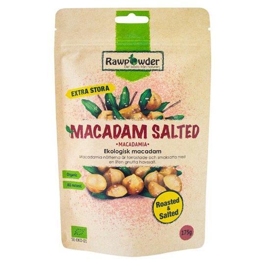 Rawpowder Ekologiska Macadamianötter Saltade, 175 g