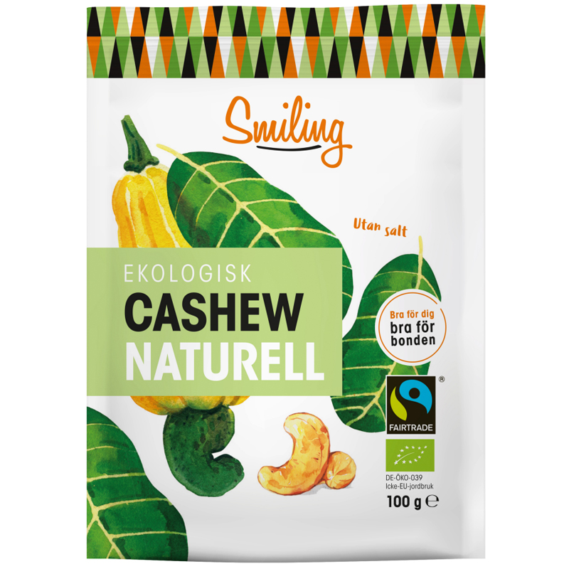 Eko Cashewnötter Naturell - 28% rabatt