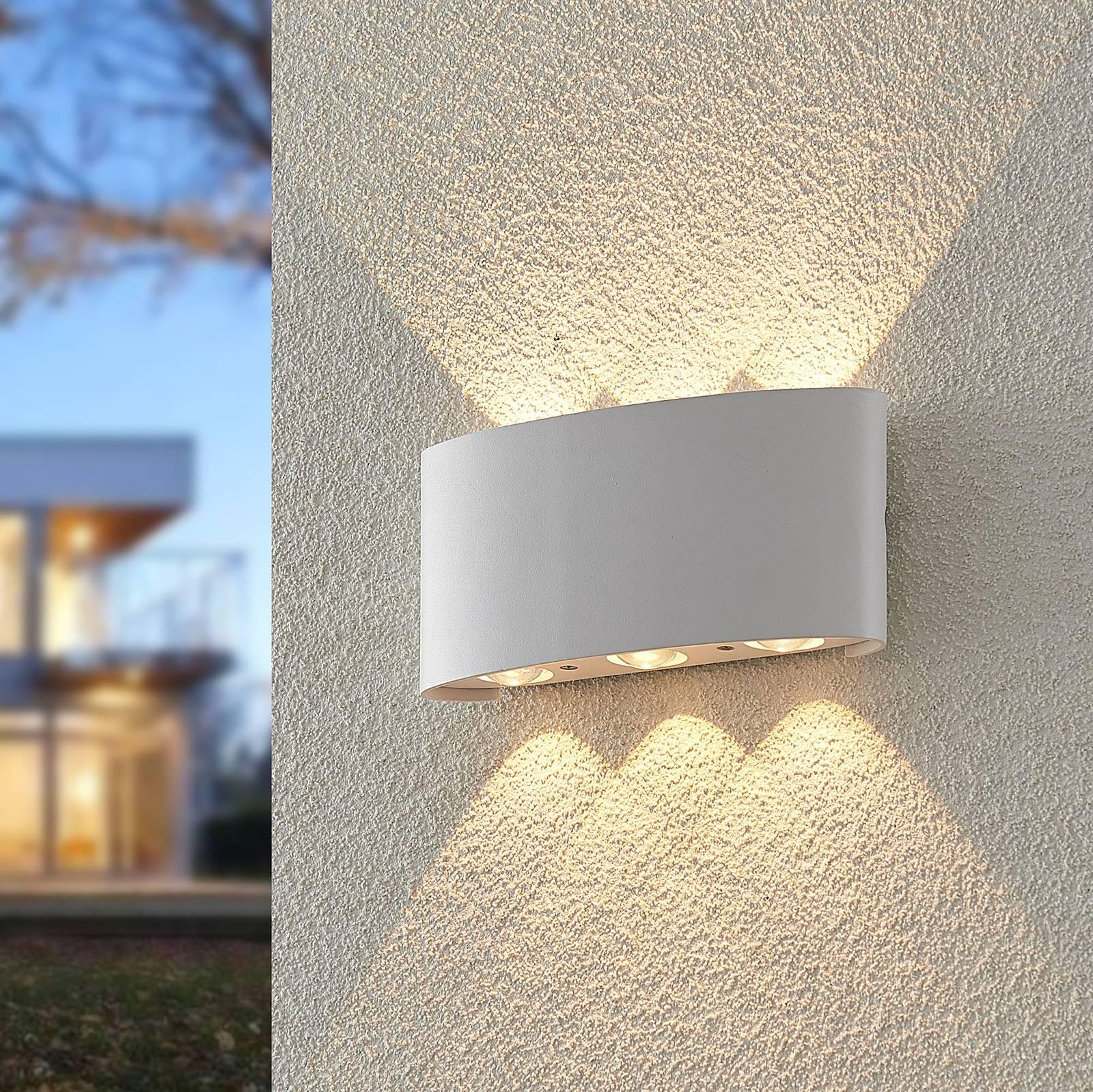 ELC Emirana -LED-ulkoseinälamppu, valkoinen