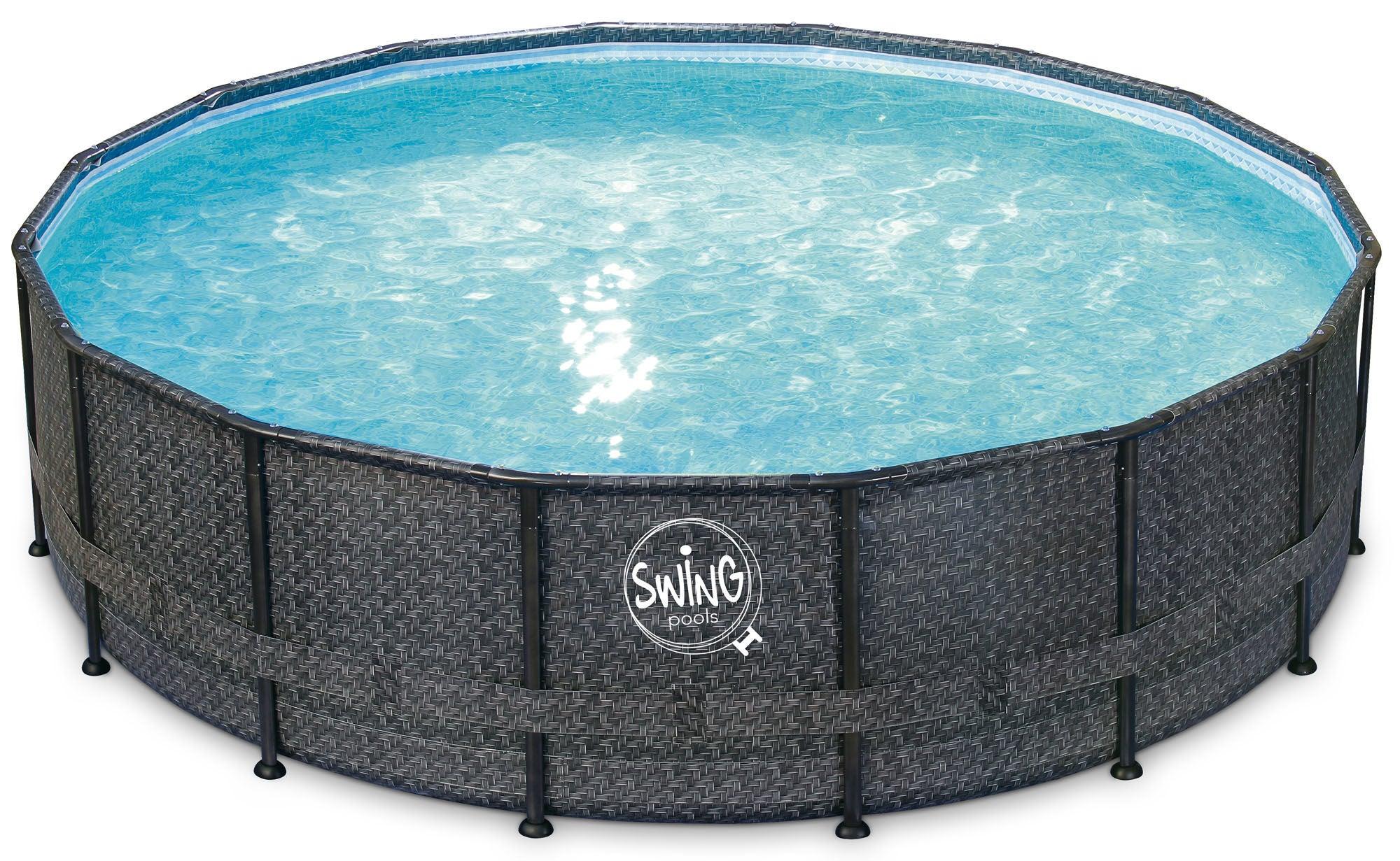 Swing Pools Elite Wicker Frame Pool 488 cm