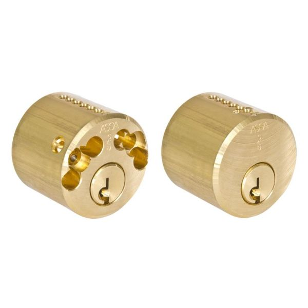 ASSA 1212 Låsesylinder med tre nøkler, rund