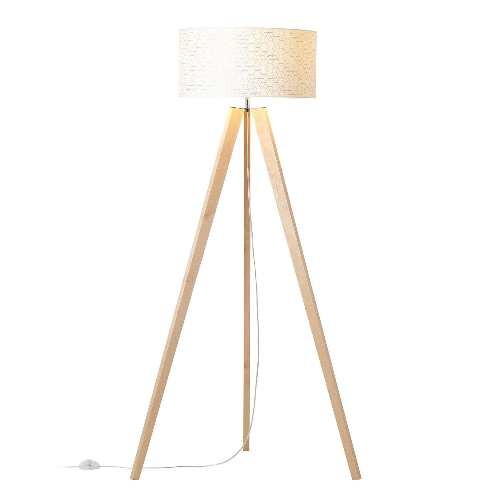 Lattiavalaisin Galance valkoinen puinen kolmijalka
