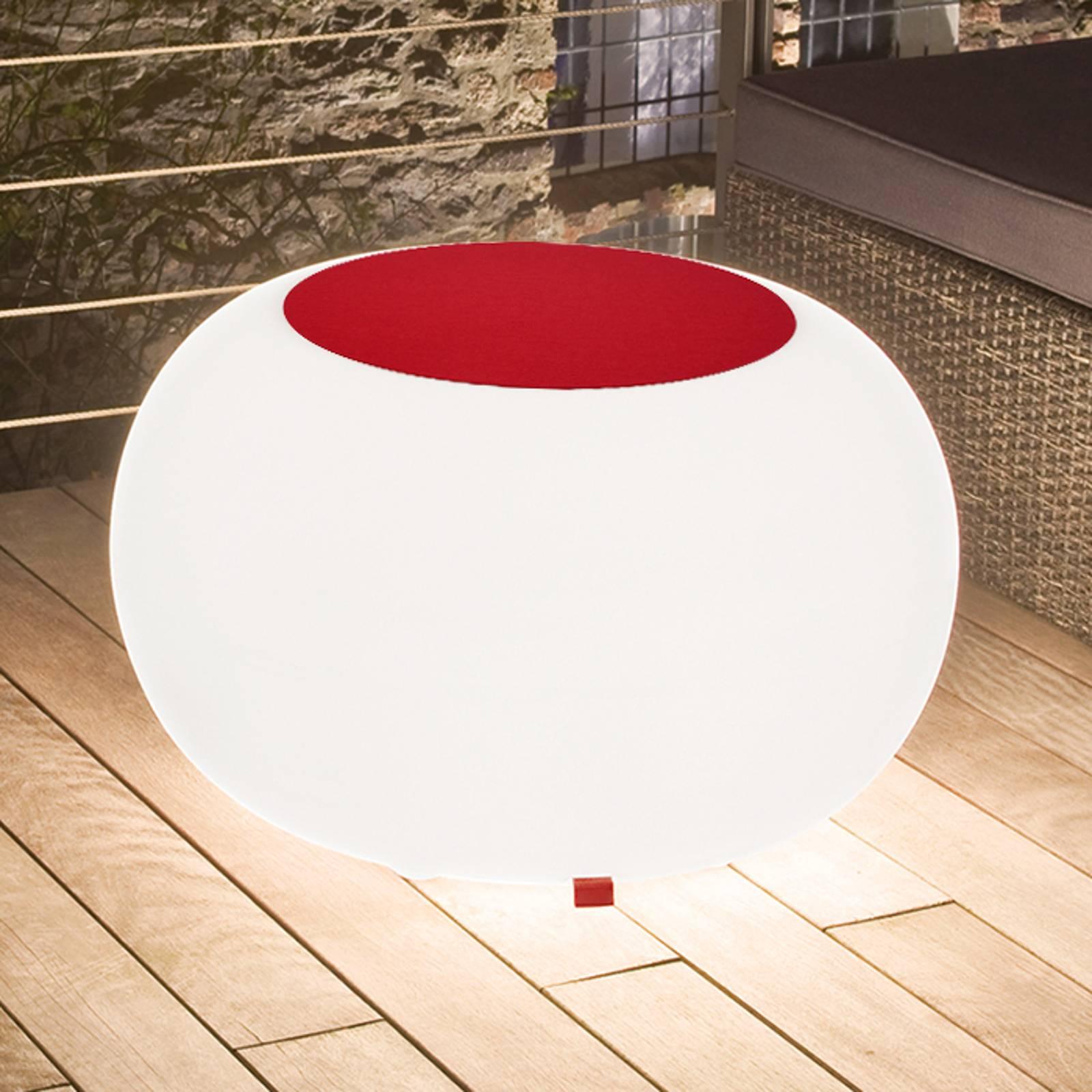 Bubble Outdoor pöytä, valkoinen + huopa punainen