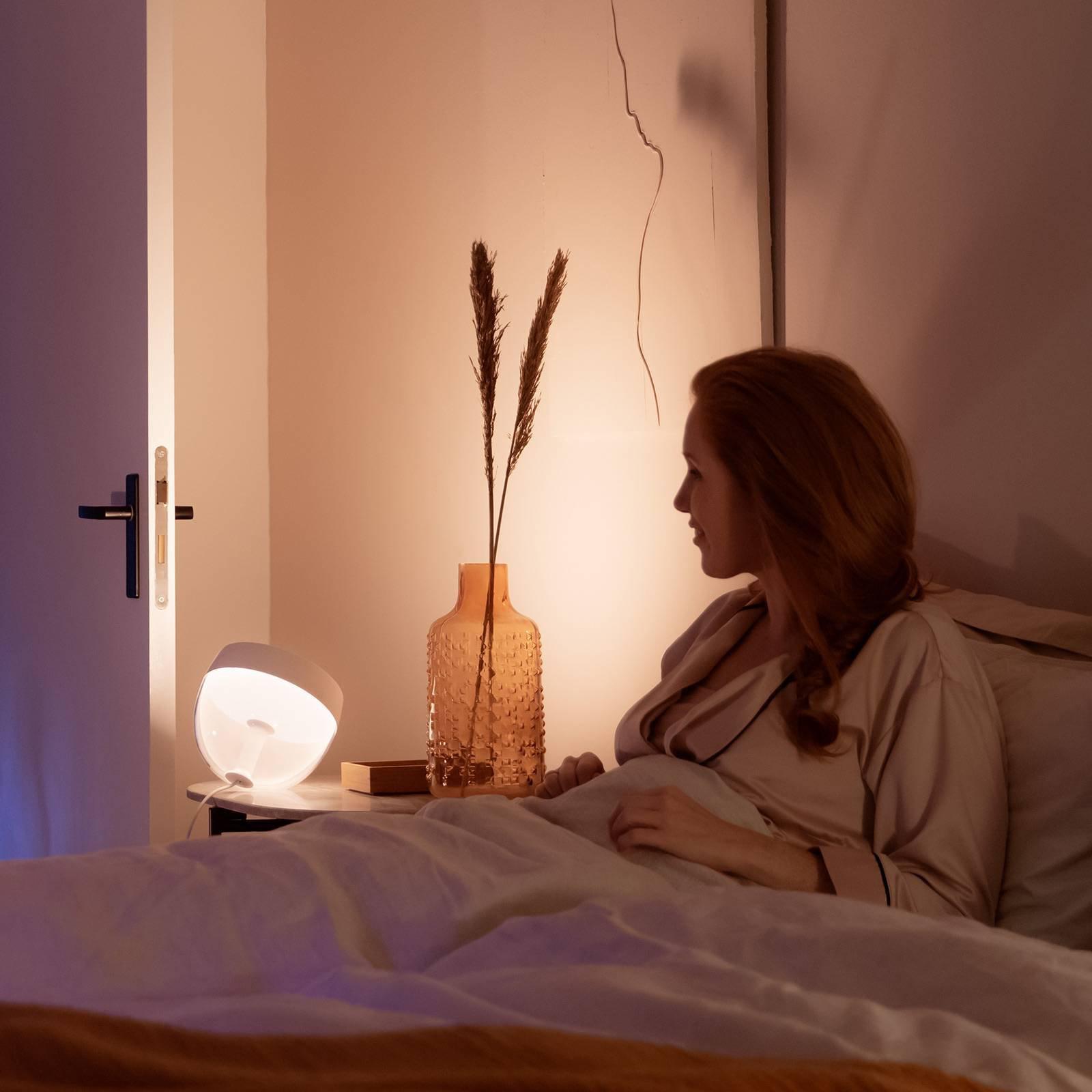 Philips Hue Iris WACA-LED-bordlampe, hvit