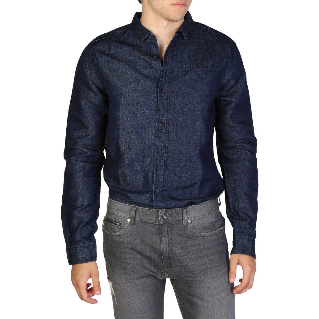 Armani Exchange Men's Shirt Blue 3ZZC38Z1CTZ1500 - blue S