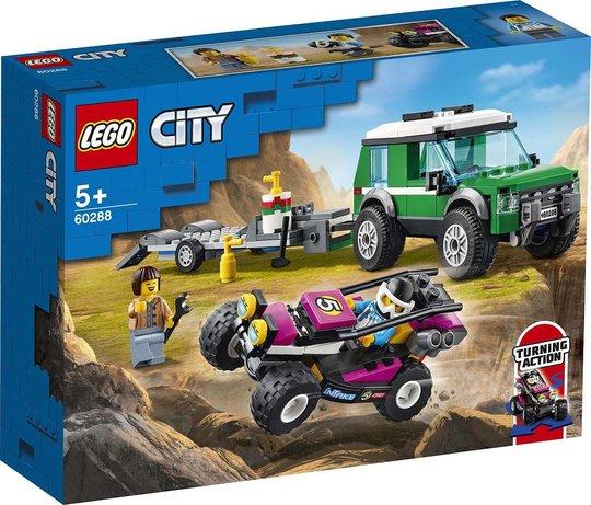 LEGO City Great Vehicles 60288 Hengertransport Med Racerbuggy
