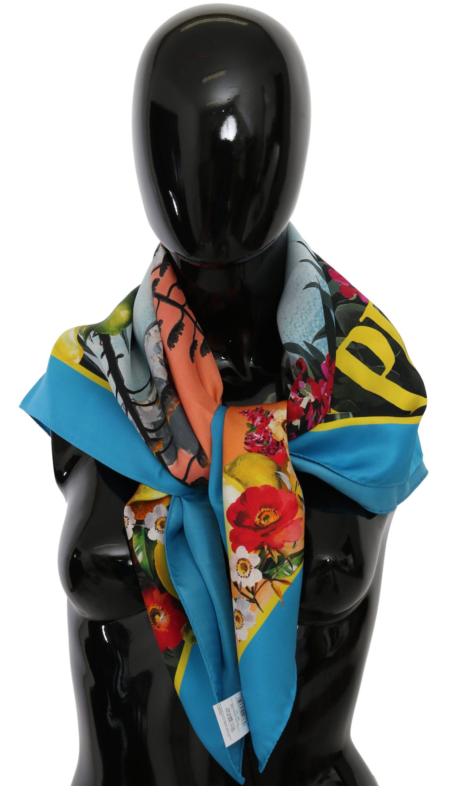 Dolce & Gabbana Women's Capri Print Wrap Silk Scarf Multicolor MS6067