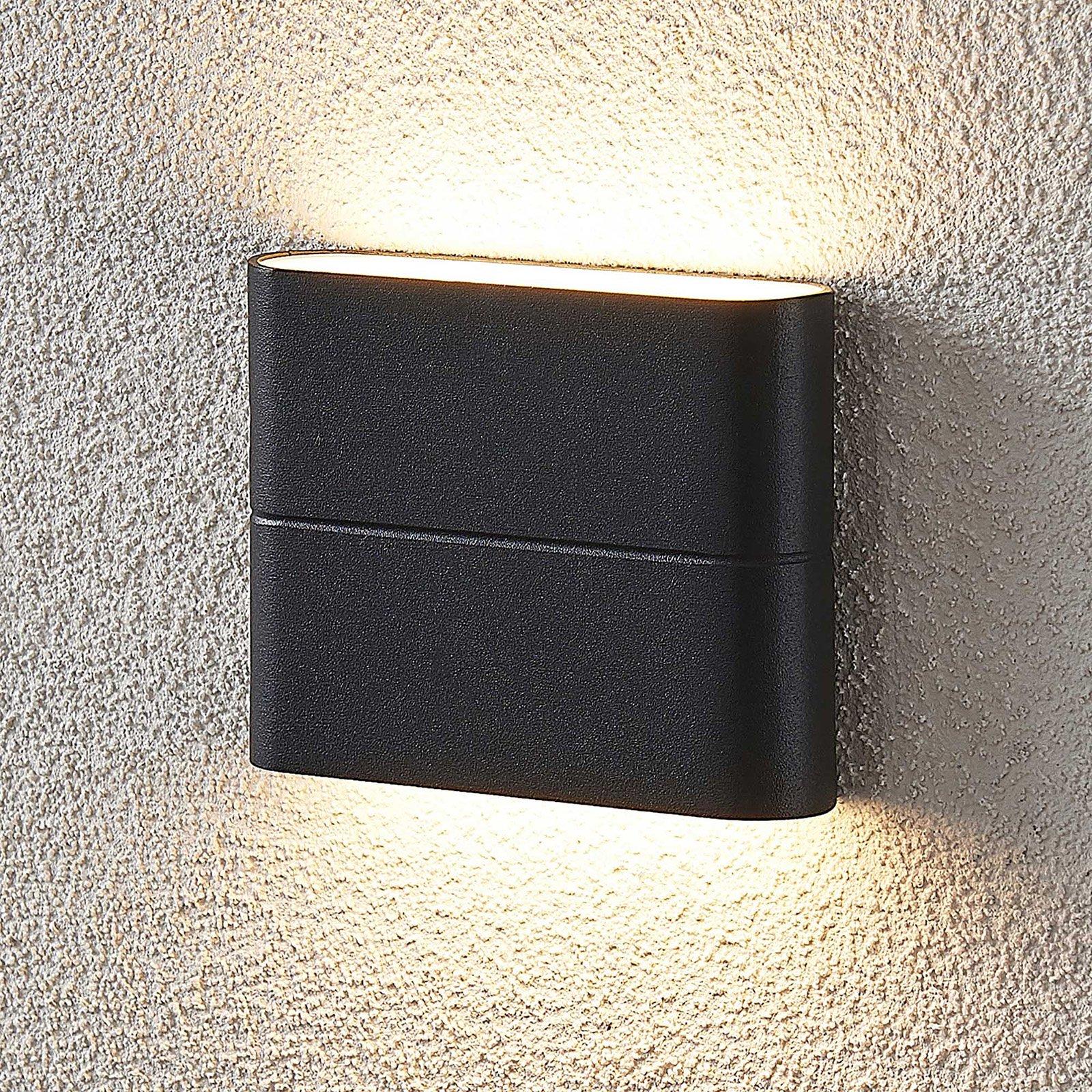 LED-utevegglampe Salka, mørk grå, 11,5 cm