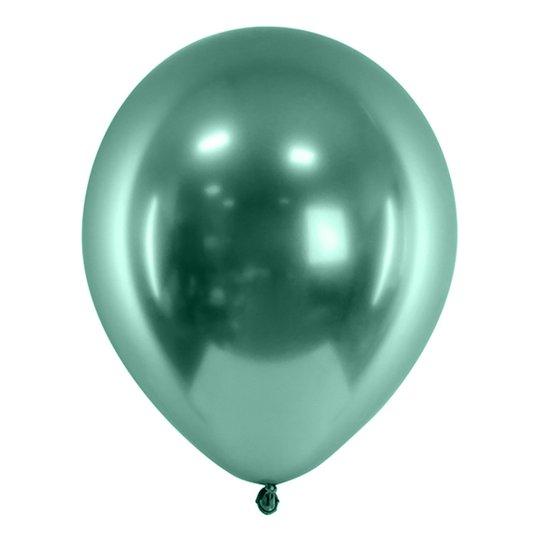 Ballonger Krom Grön - 10-pack