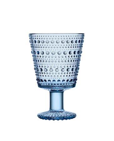 Kastehelmi Glass på fot Aqua 26 cl 2 stk.