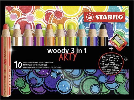 STABILO 3-i-1 Trepenner 10-pack Med Blyantspisser