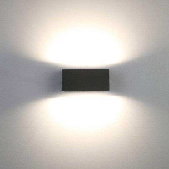 Utevegglampe Gemini kantet antrasitt 16 cm 3 000 K