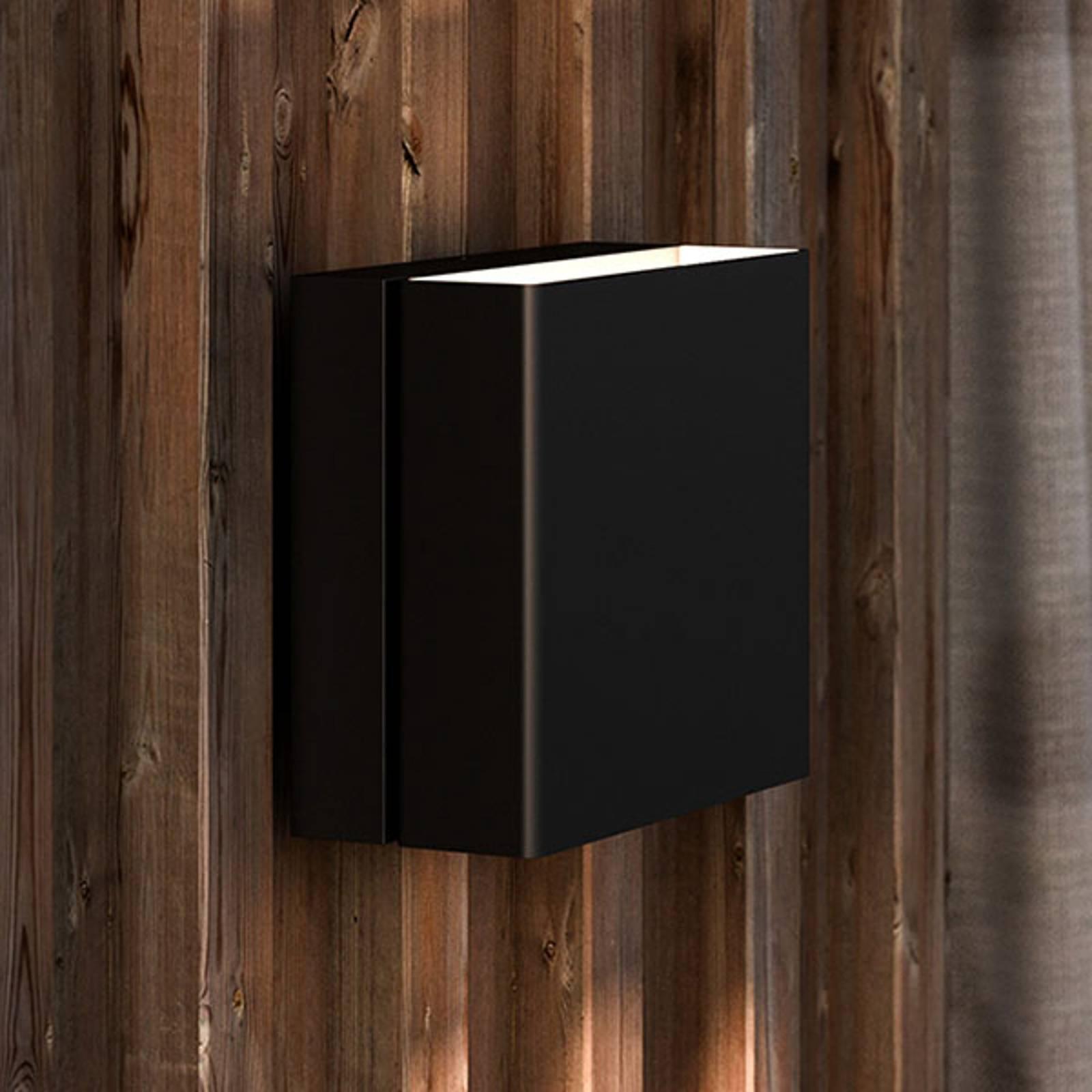 LED-ulkoseinälamppu Turn, himmennettävä, musta
