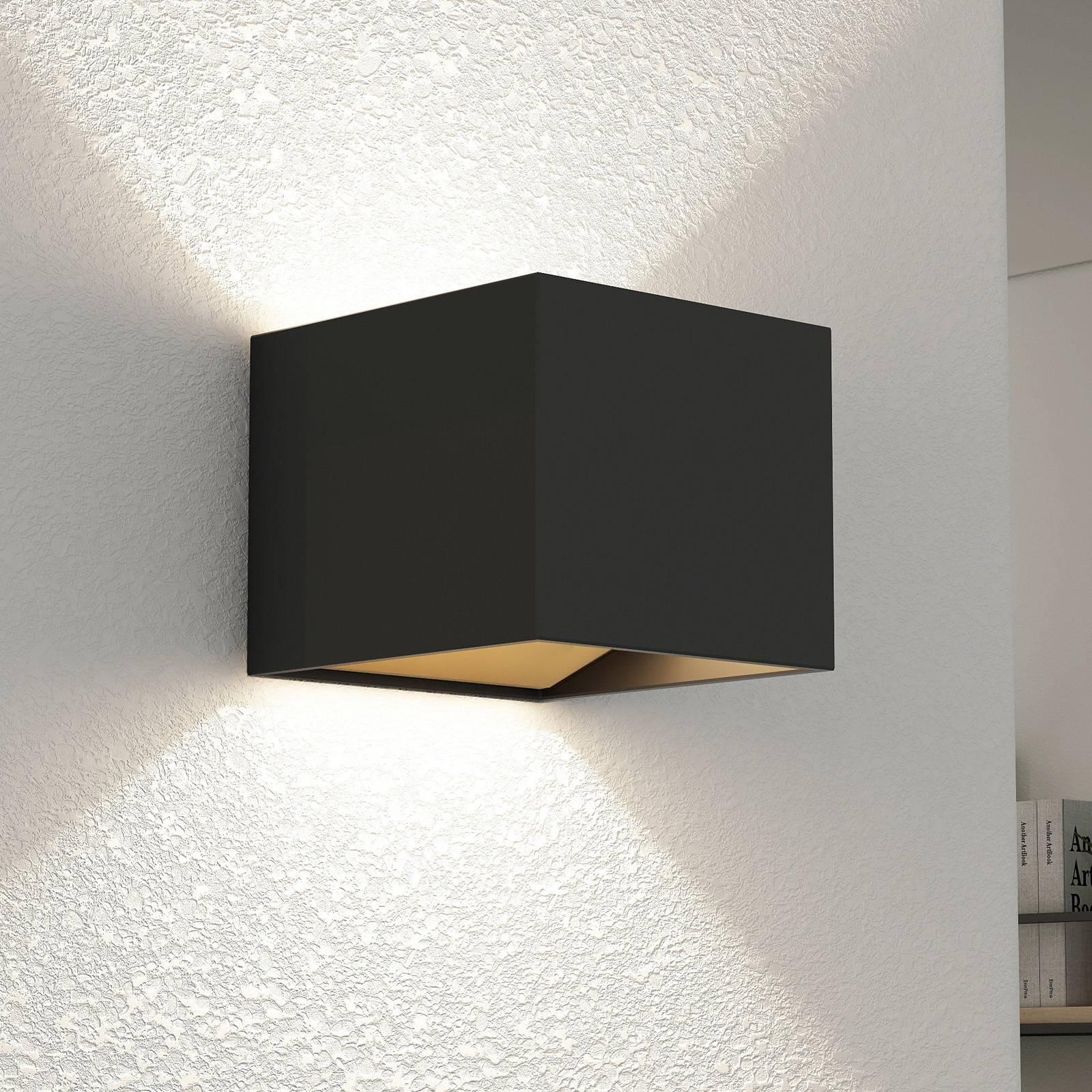 Arcchio Antonin -LED-seinävalaisin, musta-kulta