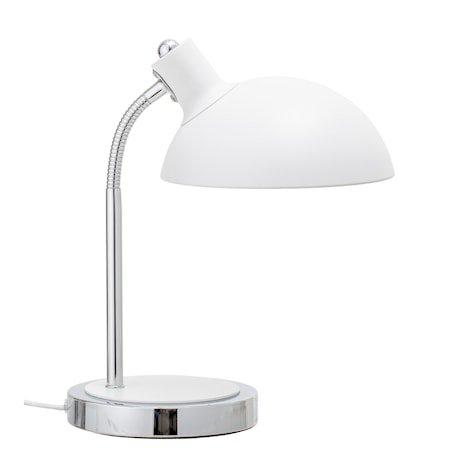 Bordlampe Hvit Metall