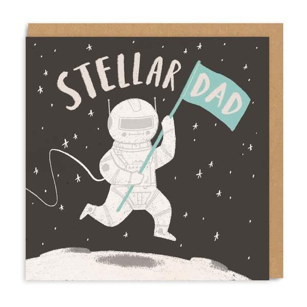 Stellar Dad Square Greeting Card