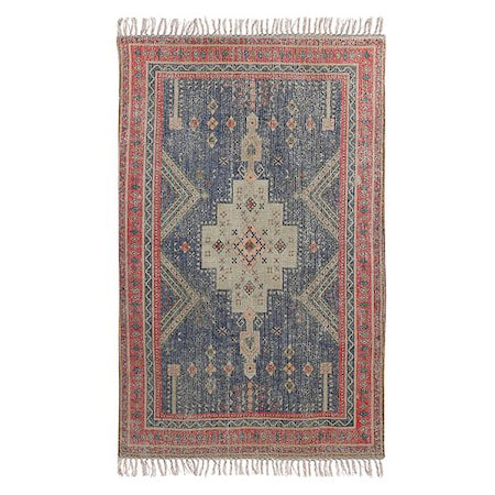 Printed Teppe Red/Blue overtufted 150x240 cm