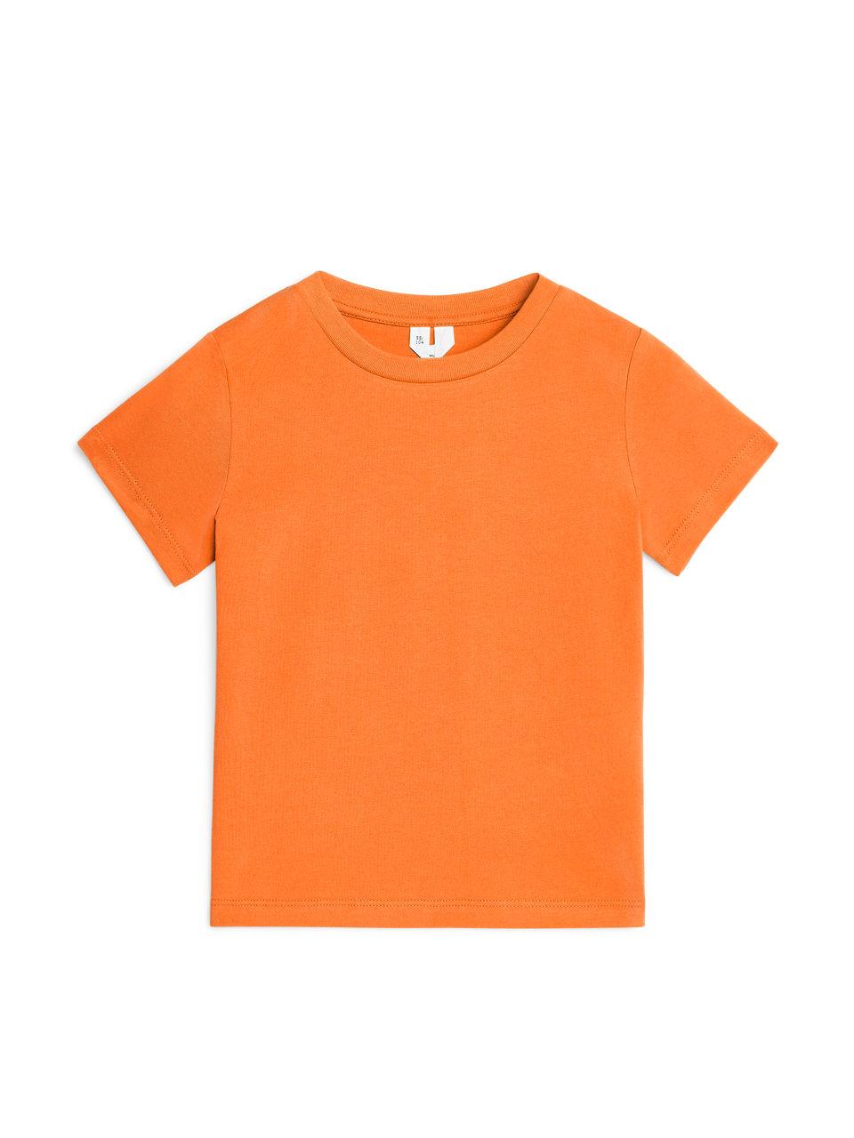 Crew-Neck T-shirt - Orange