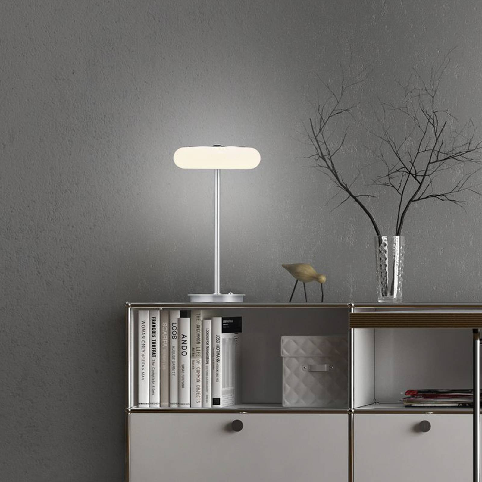 BANKAMP Centa LED-pöytälamppu, nikkeli