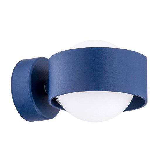 LED-vegglampe til bad Macedo, marineblå