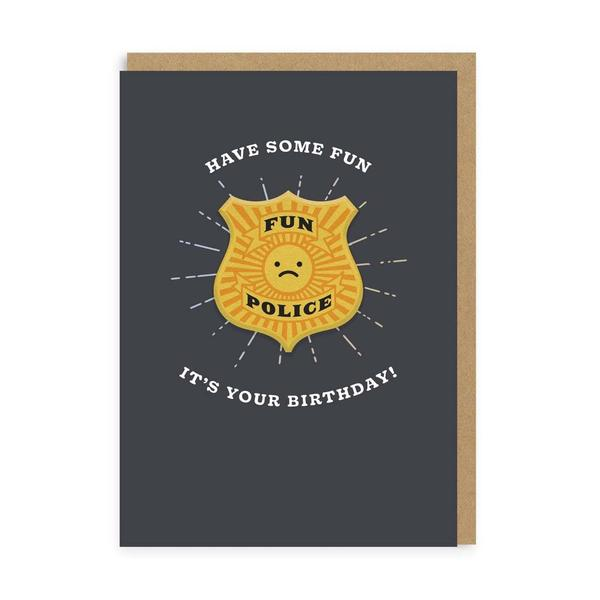 Have Some Fun It's Your Birthday Woven Patch Card