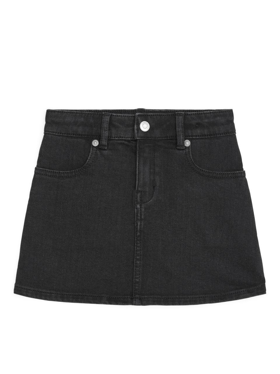 Stretch Twill Skirt - Black