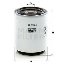 Polttoainesuodatin MANN-FILTER WK 1142/2 x