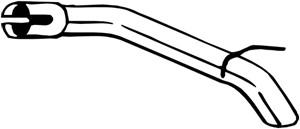 Pakoputki, Takana, OPEL ASTRA J, ASTRA J GTC, ASTRA J Skåp/halvkombi, VAUXHALL ASTRA Mk VI, 13329578, 885433