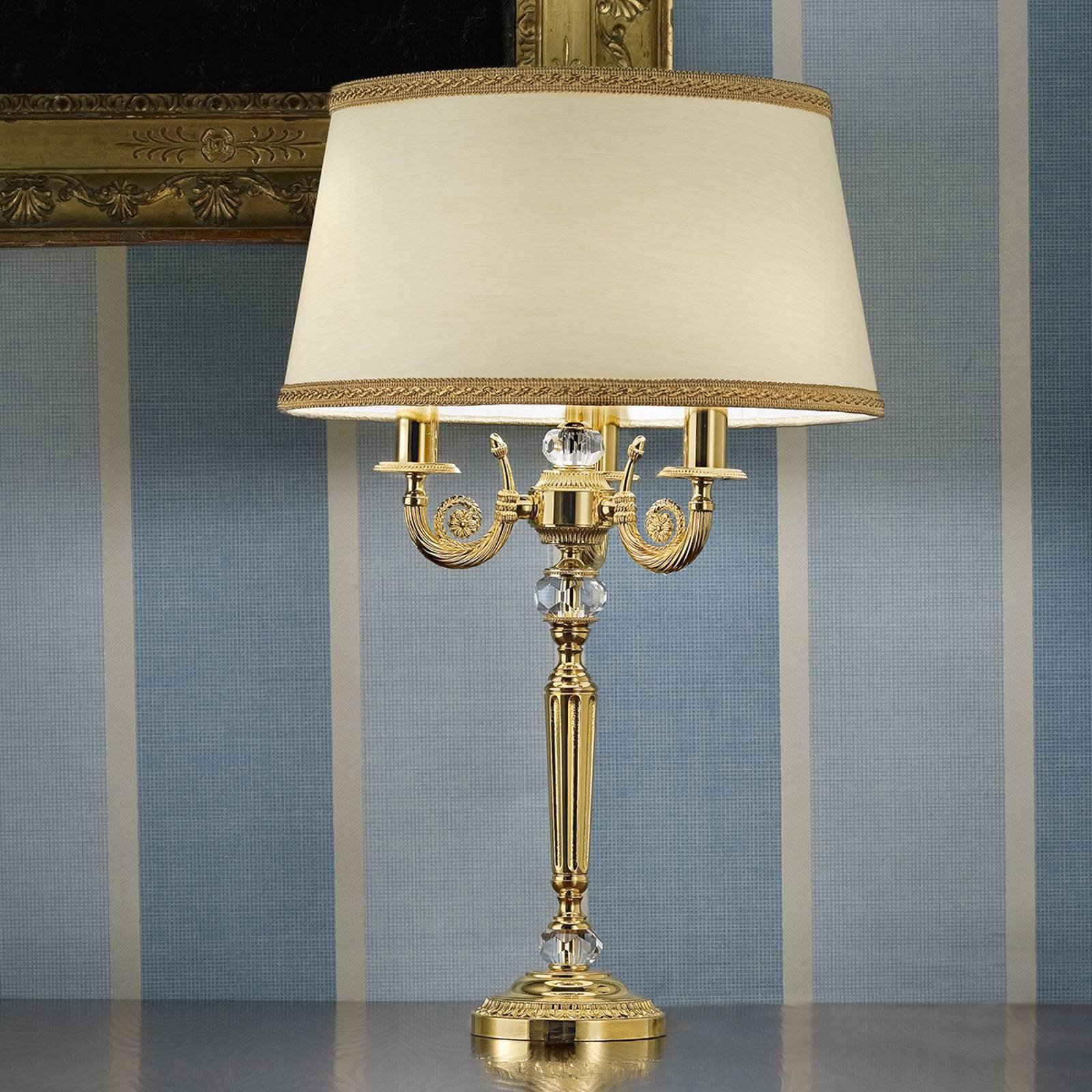 Nobel bordlampe Marvine, forgylt