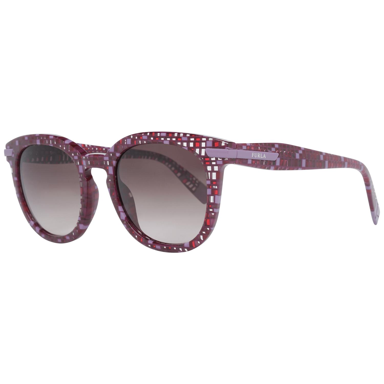 Furla Women's Sunglasses Burgundy SFU036 490GB4