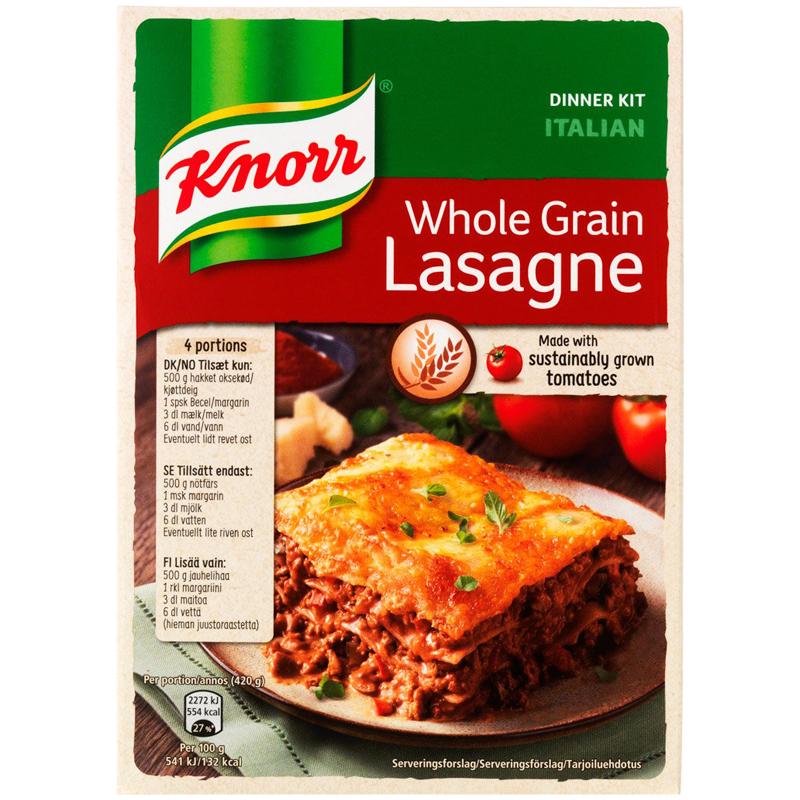 Kno Täysjyvä Lasagne ateria-aines 265g - 26% rabatt
