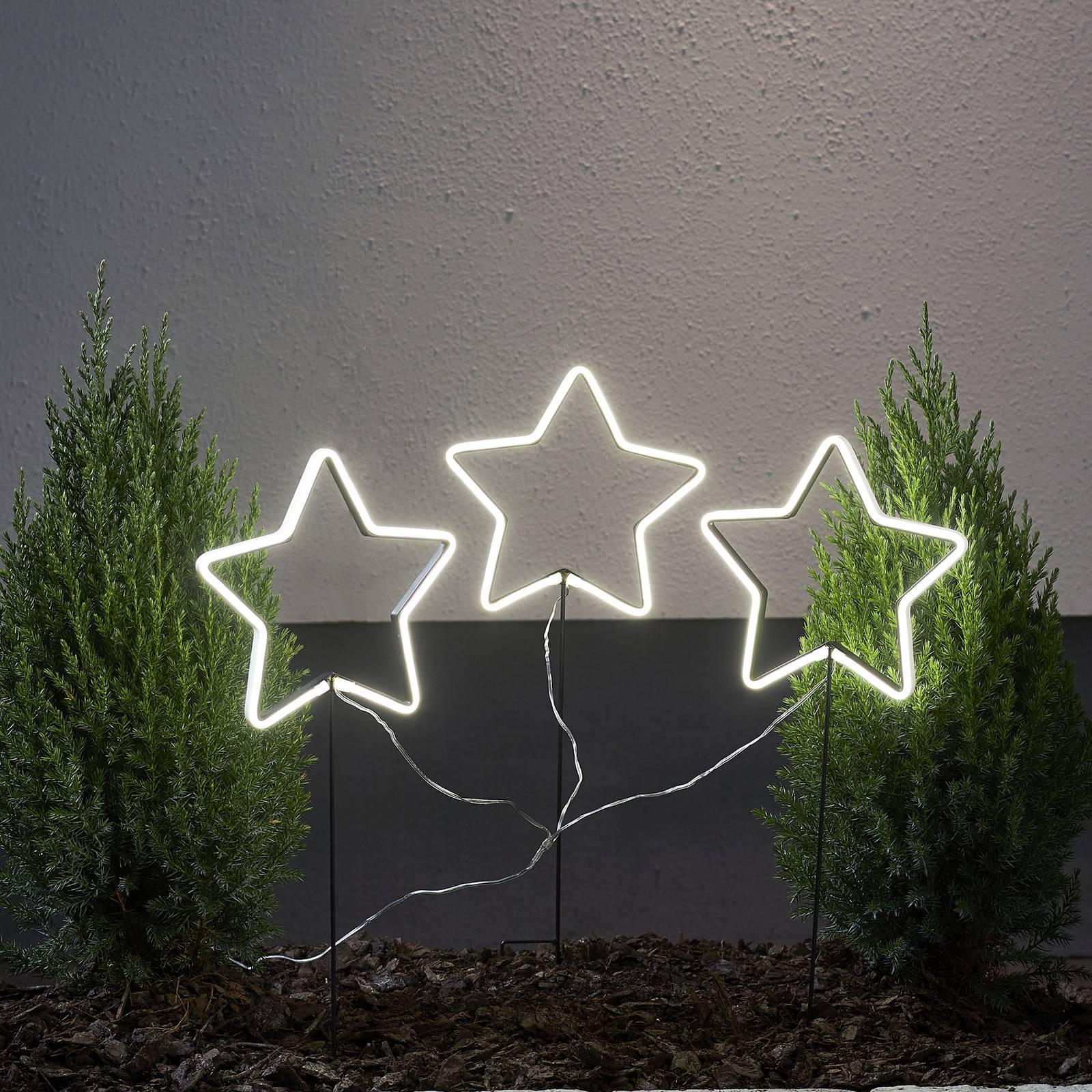 Neon Star -LED-ulkotähti, 3-lamppuinen