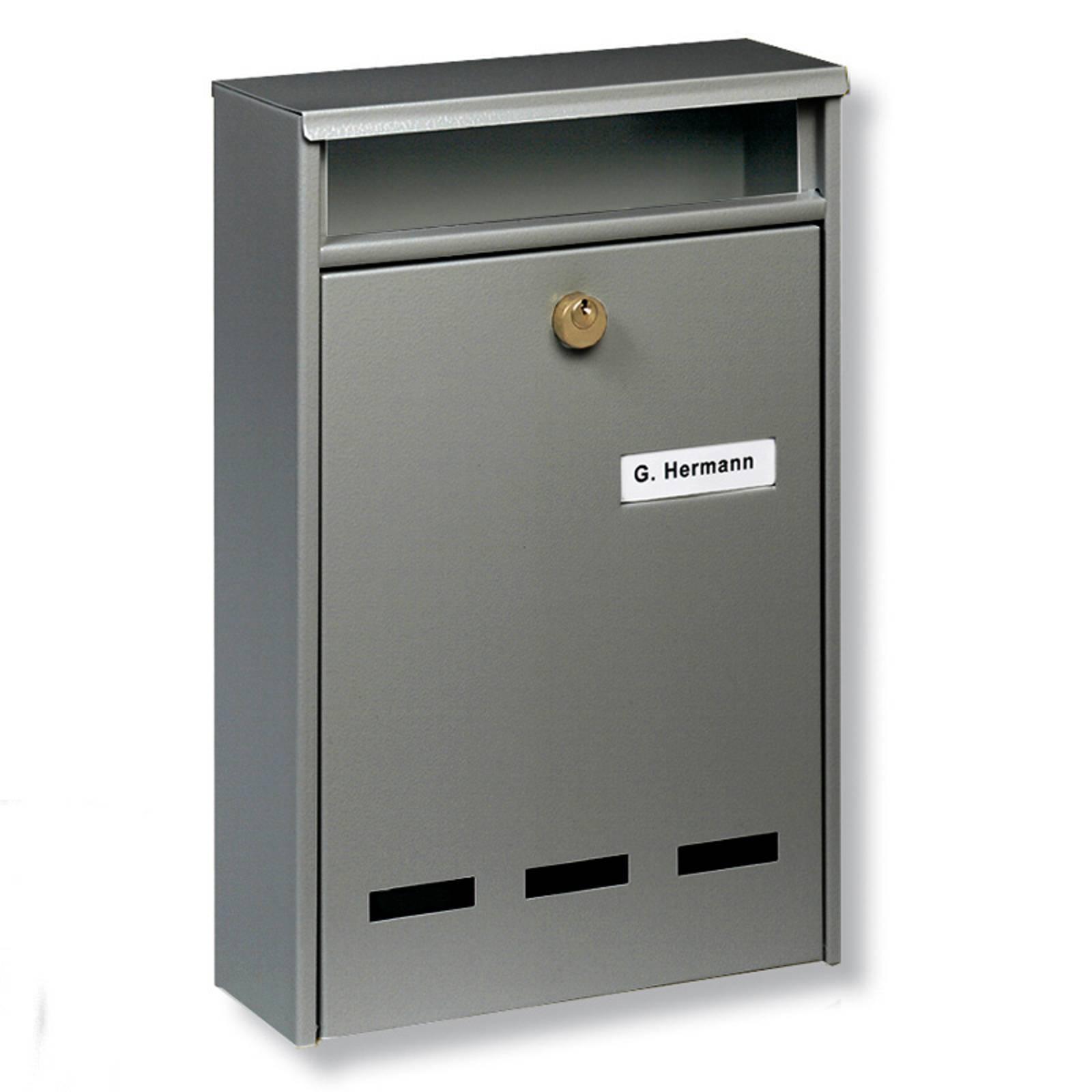 B5-standardin ryhmäpostilaatikko Wismar, harmaa