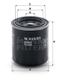 Öljynsuodatin MANN-FILTER W 815/81