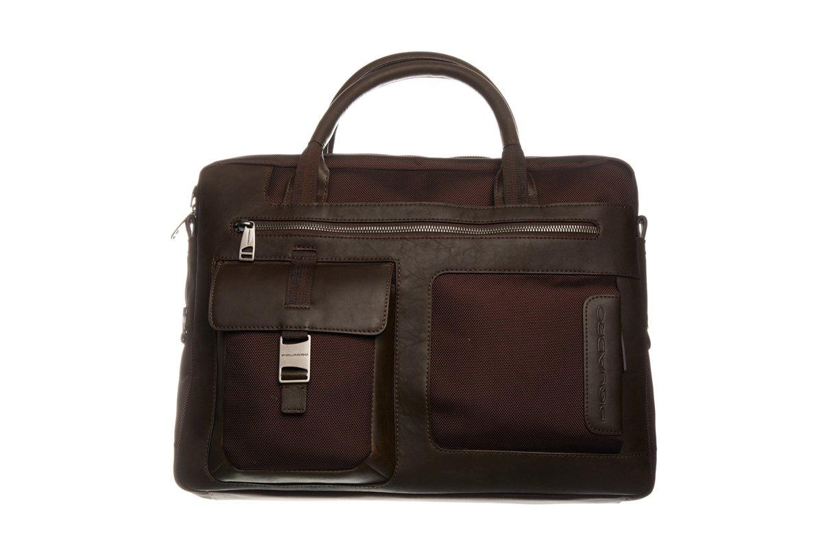 Piquadro Men's Marrone Briefcase Brown PI1270631