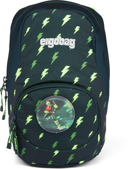 Ergobag Ease Flashlight Ryggsekk 6L, Black Green Blizzard