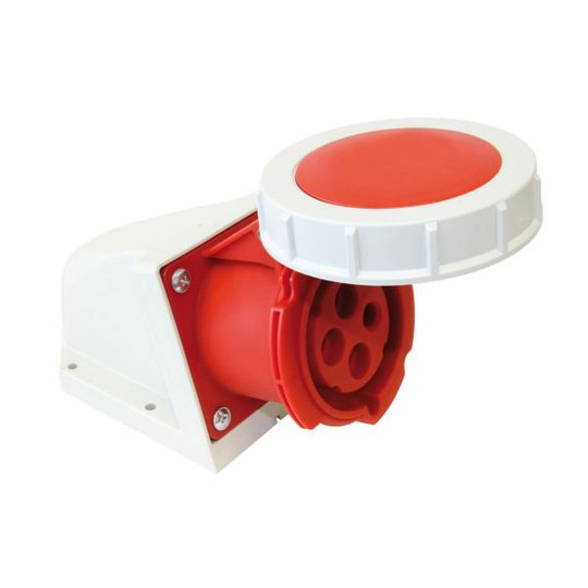 Garo UIV 316-6 S + RU Seinäpistorasia IP67, 4-napainen, 16A Punainen, 6 h