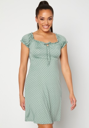 Happy Holly Tessan dress Light mint / Offwhite 40/42