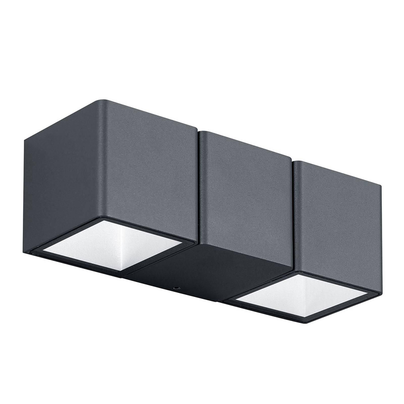 Kaksilamp. Tessa-LED-ulkoseinävalaisin tummanharm.