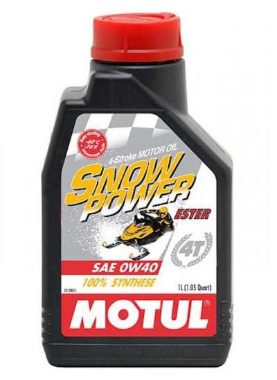 Moottoriöljy MOTUL SNOWPOWER 0W40 4T 1L