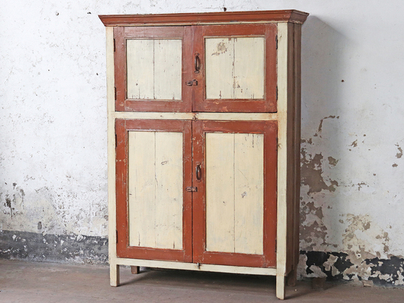 Large Wooden Cupboard Cream