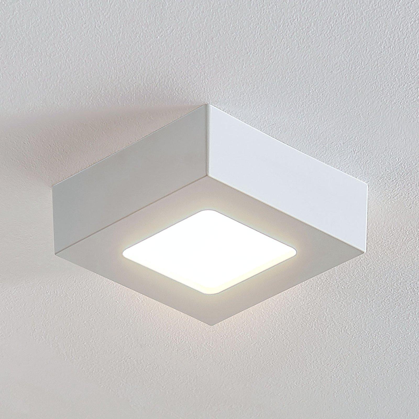 LED-taklampe Marlo, hvit, 3 000 K kantet 12,8 cm