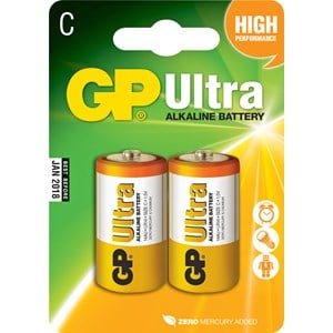 Batteri GP Alkaline Ultra LR14 C, 2-pack