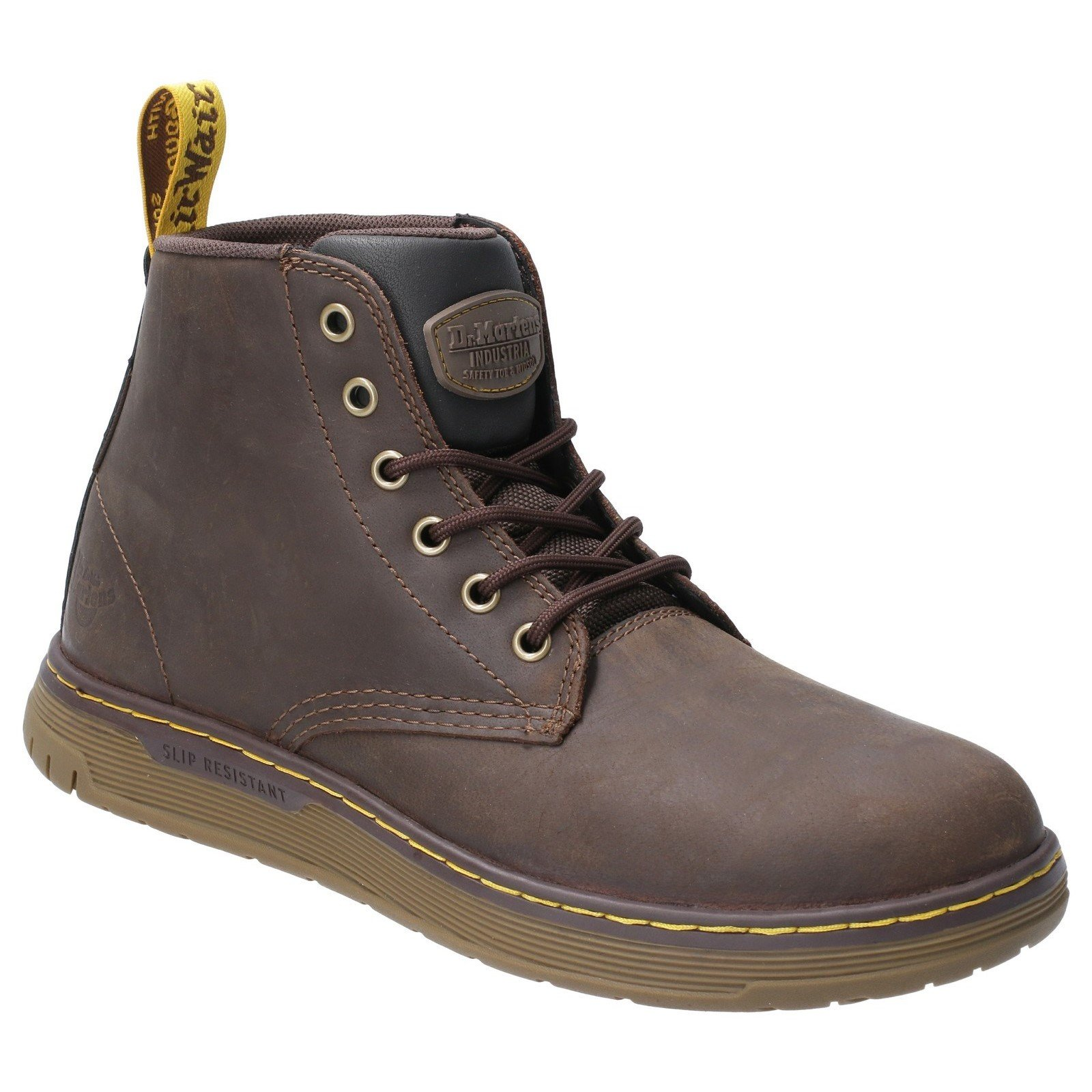 Dr Martens Unisex Ledger Lace Up Safety Boot Brown 29501 - Brown 12