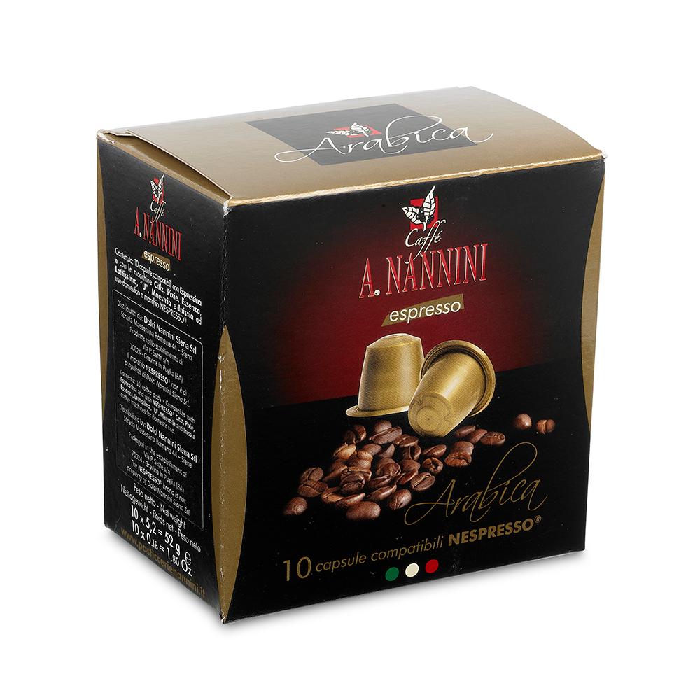 Arabica Nespresso Capsules 10pcs 60g by Nannini